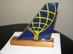 Atlas Air Freight Model Airplane Wood Tail Fedex Flying Tigers Pilot Desk Gift