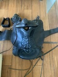 Hand Tooled 18.5andrdquo Saddle With Extras