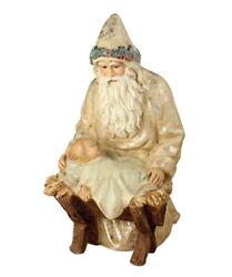 Bethany Lowe Christmas Father Christmas By Manger Sn6816