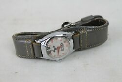 Vintage Hopalong Cassidy Watch Cowboy Western Collectable Gray Band Toy