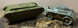 Two Vintage Toy Tanks - Marx And Unbranded