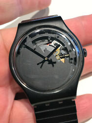 Swatch Watch High Wonder Suoz137 Stretch Band Great Condition 41mm Working