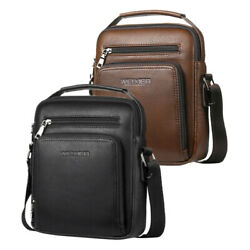 Gents Leather Shoulder Bag for Men Business Cross Body Bag SATCHEL School Bag $25.90