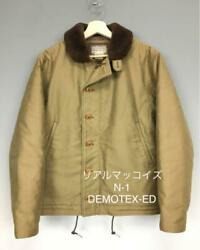 The Real Mccoy's N-1 Deck Jacket Special Khaki Size 40r Used From Japan