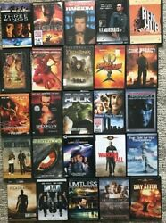 Lot Of 50 Used Dvd Movies - Action Adventure - Wholesale Lot Great Shape