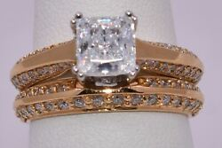 Bridal Diamond Engagement And Wedding Ring Set W/o Center Stone By Diana