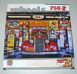 New Master Pieces 750 Pc Puzzle At Your Service Wheels Shell Gas Pumps Sinclair