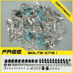Airbrushed Fairings Bodywork Bolts Screws + Tank Cover For Yamaha Yzfr1 07-08 35