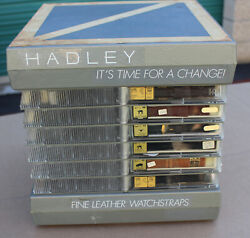 Hadley Wristwatch Store Display Rotating Case W/ 35 Vintage Leather Watch Bands