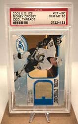 🏒2005 Sidney Crosby - Upper Deck Ice Cool Threads Patch/jersey - Psa 10 Rookie