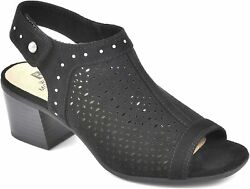 White Mountain Shoes Life Saver Womenand039s Slingback Stacked Heel Sandal