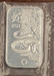 1 Oz .999 Pure Silver China Year Of The Snake Bullion Bar 2013 From Apmex