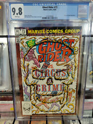 Ghost Rider 73 1973 Series - Cgc Grade 9.8 - Circus Of Crime Appearance