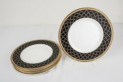 Royal Doulton Baroness Accent Luncheon Plates Set Of 6 -8 7/8 D Free Usa Ship