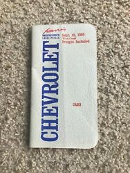 1970 Chevrolet West Coast Car Models Options And Pricing Salesmans Booklet.