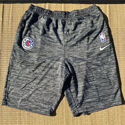 Nike 2019-20 La Clippers Nba Team Issued Practice Basketball Sweat Shorts Sz Xxl