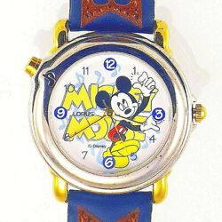 Mickey Disney Lorus Musical Plays And039mickey Mouse Marchand039 R2302ax Unworn Watch 125