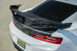 Eos For 16-up Chevrolet Camaro   Zl1 1le Glossy Black Rear Trunk Wing Spoiler