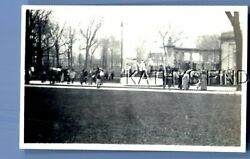 FOUND Bamp;W PHOTO U 9796 VIEW OF PEOPLE ON WALLTREESOTHERS