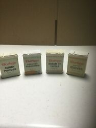 Durkee Lot Of 4 Vintage Spice Tin Cans
