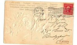 George Washington 2 Cent Stamp Red Rare Series 1902 On Postcard Dated 1907