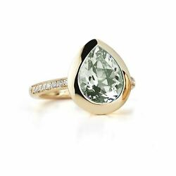 A And Furst - Picnic - Ring With Prasiolite And Diamonds, 18k Rose Gold