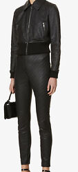 Givenchy Chain Jacket In Embbosed Leather Size Uk 6 Fr 34 Us 2 Rrp Andpound2885