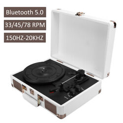 Bluetooth5.0 Vinyl Record Player Suitcase Portable Turntable Player 33/45/78 Rpm