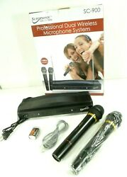Supersonic Sc-900 Professional Dual Fm Wireless Microphone Receiver System