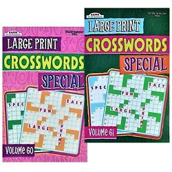 Kappa Large Print Crosswords Volumes 60 And 61 Special 43 Crosswords Each