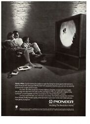 1989 Pioneer 50quot; Projection Monitor ET Movie Night Vintage Print Advertisement