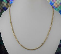 22k Chain Solid Gold Simple Elegant Two Tone Ball And Cable Link Design C3592