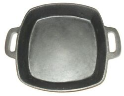 10 Cast Iron Square Fry Pan Ktchen Camping Grilling Oven Stove Top