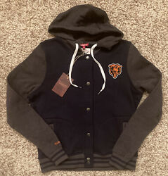 Chicago Bears Mitchell And Ness Women's Hooded Fleece Jacket Small