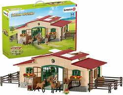 Schleich Farm World Large Stables Play Set With Horses Figure 42195 Toy Japan