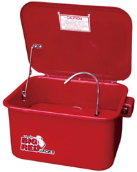 Torin Big Red Steel Cabinet Parts Washer With 110v Electric Pump 3.5 Gallon