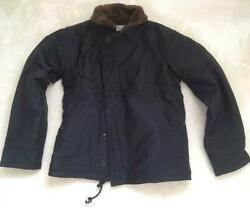 The Real Mccoy's N-1 Deck Jacket Navy Cotton Size 38 New From Japan