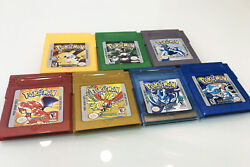 7PCS Game Cards Pokemon for Nintendo GB GBC GBA Game Boy Game Cards US Version $41.99