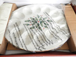 Lenox China Holiday 12 Sect. Deviled Egg Platter Plate Dish Tray - New In Box