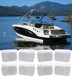 8 Rockville Hp65s 6.5 Marine Box Speakers With Swivel Bracket For Boats