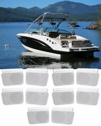 10 Rockville Hp65s 6.5 Marine Box Speakers With Swivel Bracket For Boats
