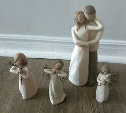 Willow Tree Bundle X4 Figurines Friendship, Together, Affection And Happiness
