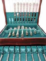 Birks / Ryrie Sterling Silver Luncheon Set For 8 - Chantilly Pattern - 72 Pcs.
