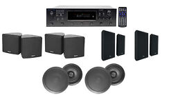 H12x500ubt 6-zone Home Theater Receiver+cube+wall+black Ceiling Speakers