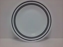 Corning Corelle Classic Cafe Black Rings 6.75quot; Bread Salad Plate