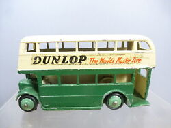 Dinky Toys Model No.29c Dunlop Double Decker Bus. And039aec Grilleand039 Code 3 Finish