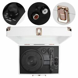 5.0 Vinyl Record Player Suitcase Portable Turntable Player33/45/78 Rpm