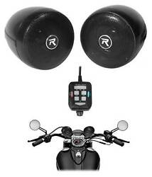 Rockville Bluetooth Motorcycle Speakers For Royal Enfield Classic Squadron Blue