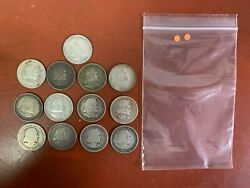 Lot Of 13 1892 And 1893 Silver Comm. Columbian Exposition Half Dollars Orange