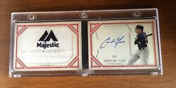 2020 Definitive Christian Yelich 1/1 Booklet Majestic Tag Patch Auto Hot Brewers